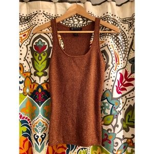 MODA INTERNATIONAL bronze Racerback ribbed tanktop